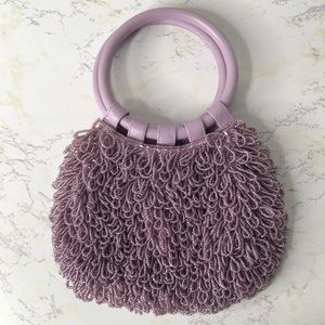 MOYNA LAVENDER BEADED HAND BAG ANTHROPOLOGIE